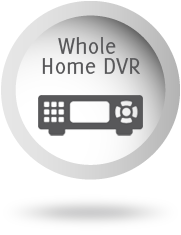 Whole Home DVR button with DVR Box Icon.